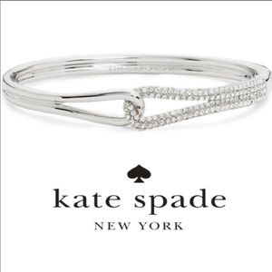 NEW Kate Spade 'Get Connected' Silver Pave Bangle